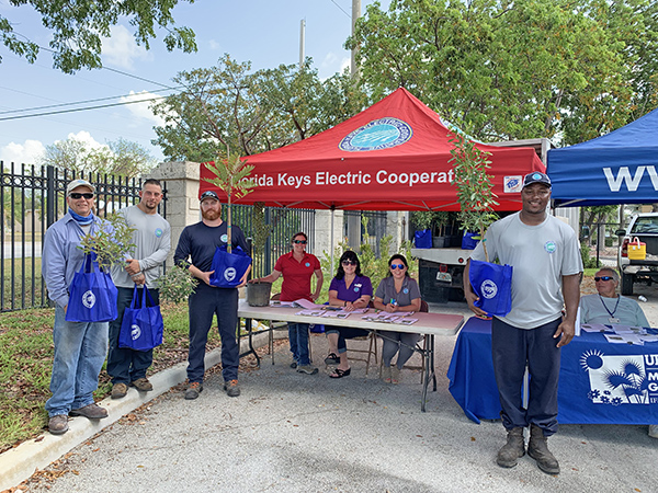 FKEC employees handed out native trees