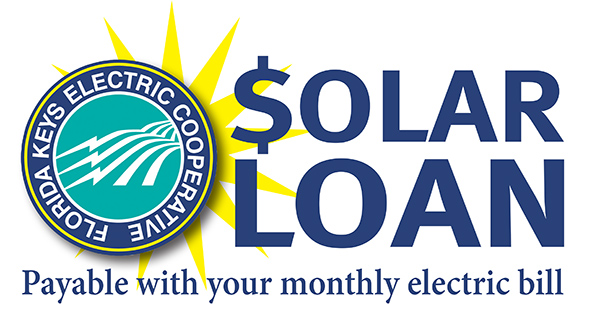 Florida Keys Electric Cooperative Solar Loan logo, payable with your monthly electric bill
